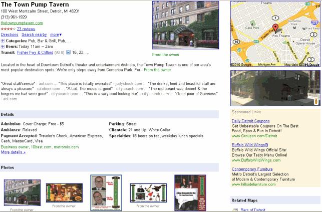 town pump tavern listing