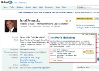 linkedin profile link company