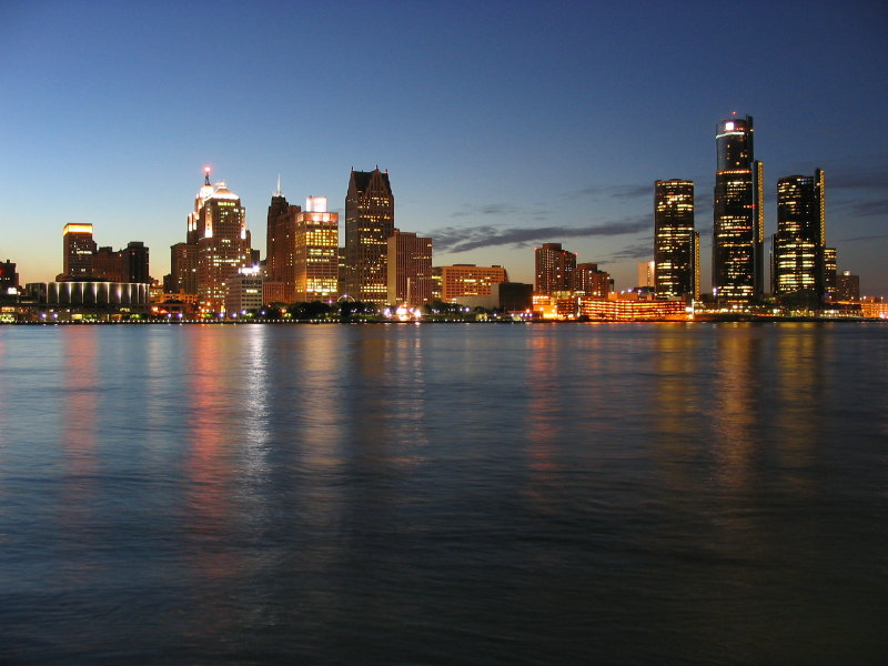 Detroit's beautiful skyline